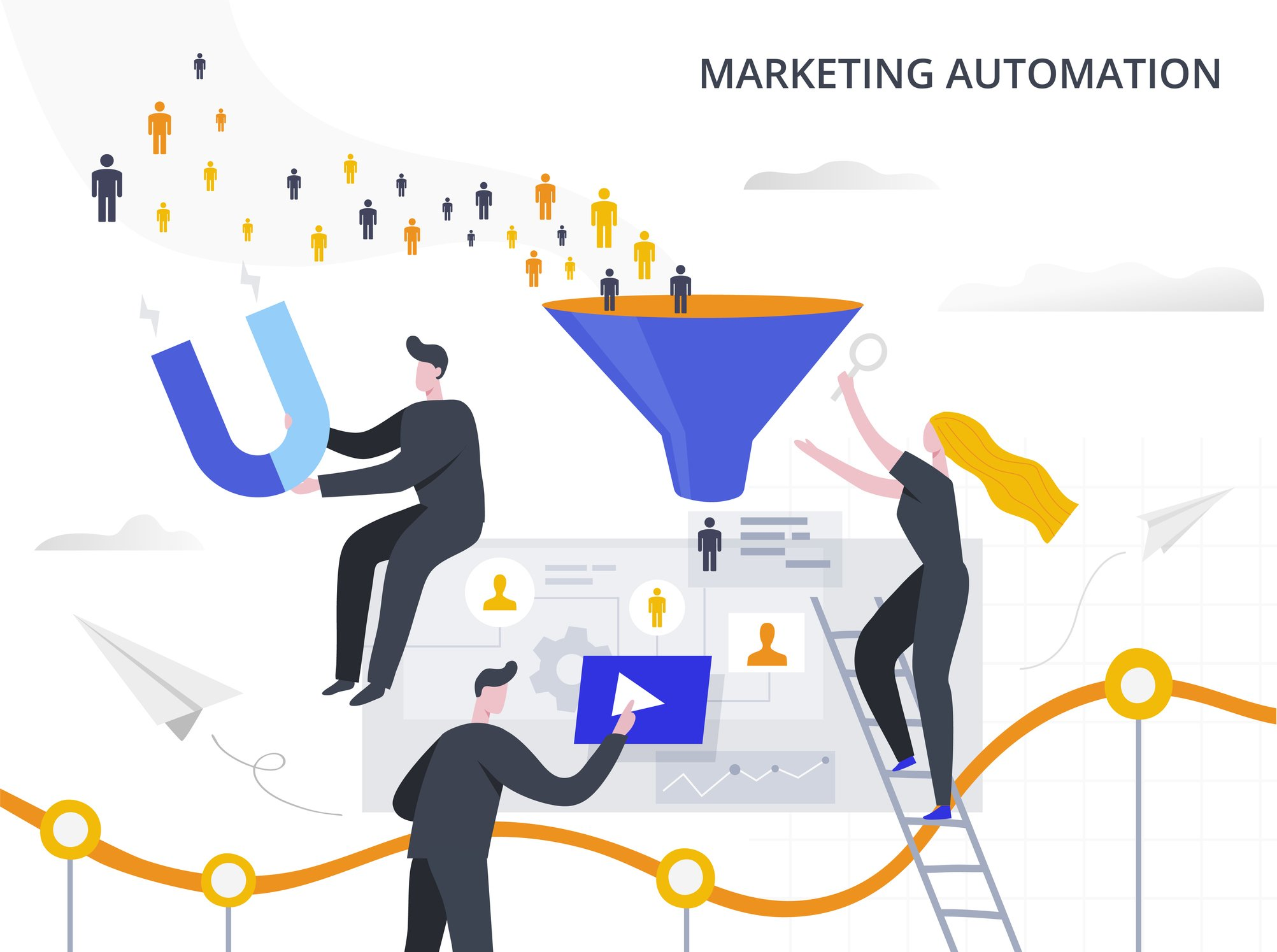 digital marketing automation concept
